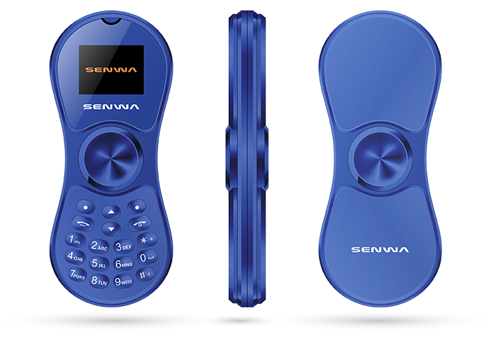 Spinnerphone Rojo  Azul